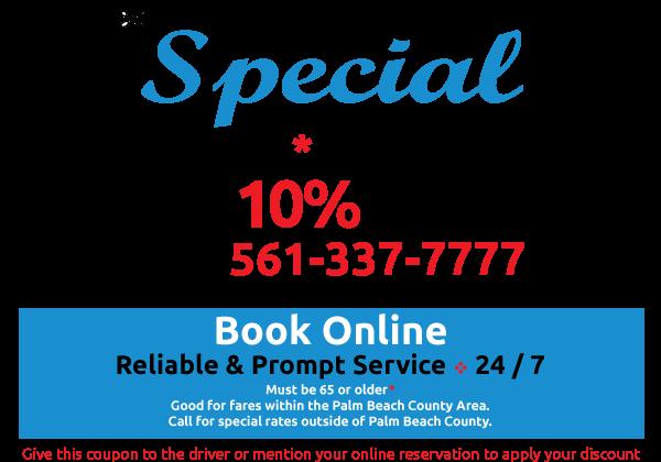 Senior Discount Palm Beach Taxi Ride